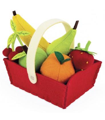 Cesta de frutas de fieltro