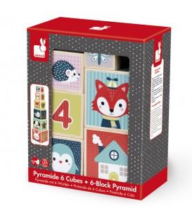 Pirámide 6 cubos conejo