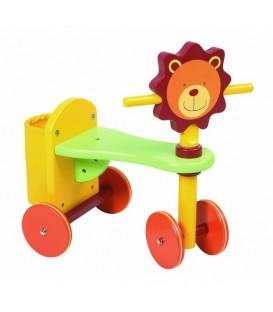León correpasillos de madera